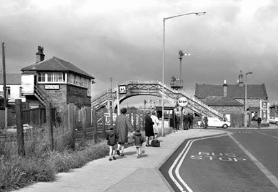 Bedlington Station.-Loved standing on the bridge when a train went through