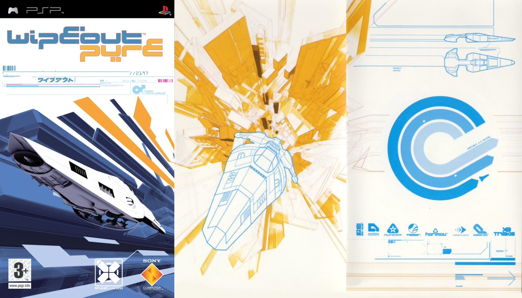 Cover art for wipeout pure created by the designers for The designers republic
