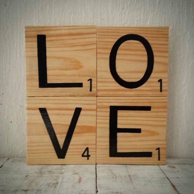 Letras de madera tipo scrabble para decorar tus muros ven y conoce todo lo nuevo scrabble - Letras scrabble madera ...