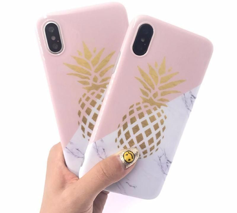 huge selection of 66828 dfcf9 Gold Pineapple Marble Case iPhone X | Cute iPhone X cases | Phone ...