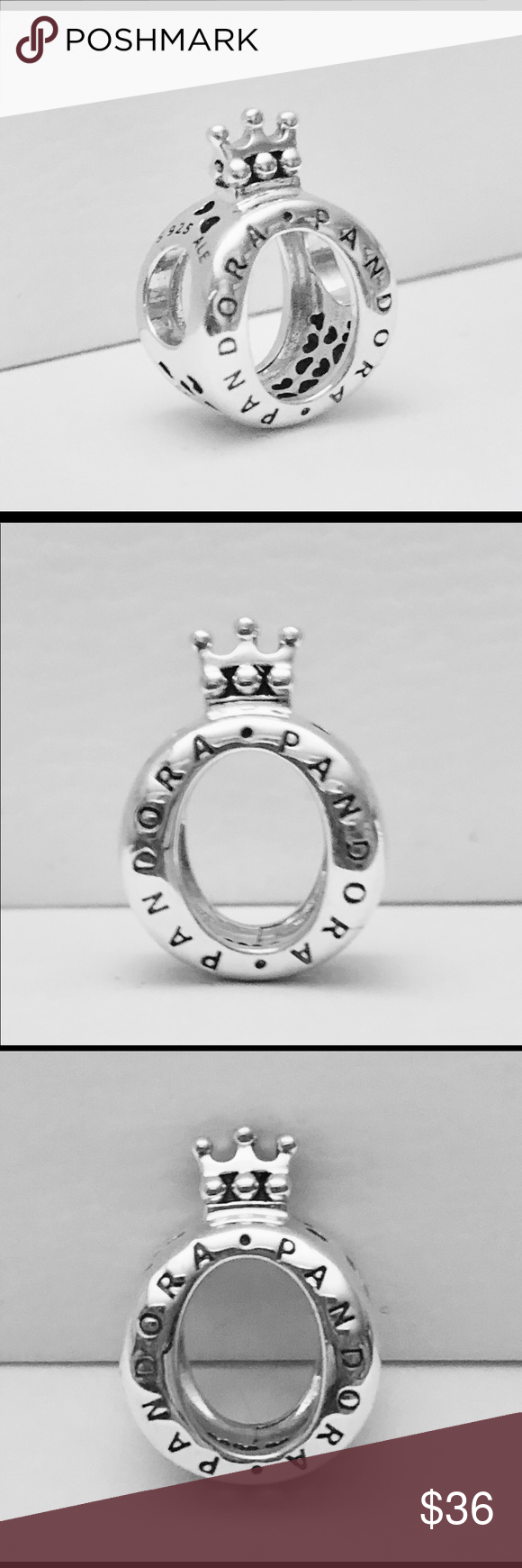 50678bde9 Authentic Pandora Crown O Charm Sterling Silver with Hallmark Stamp S 925  ALE. Comes With Pandora Tag and Box. FIRM PRICE. Thank You. PANDORA Jewelry