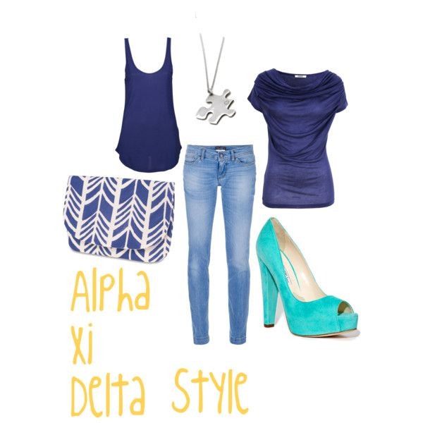 Alpha Xi Delta Style, created by all-sororities on Polyvore