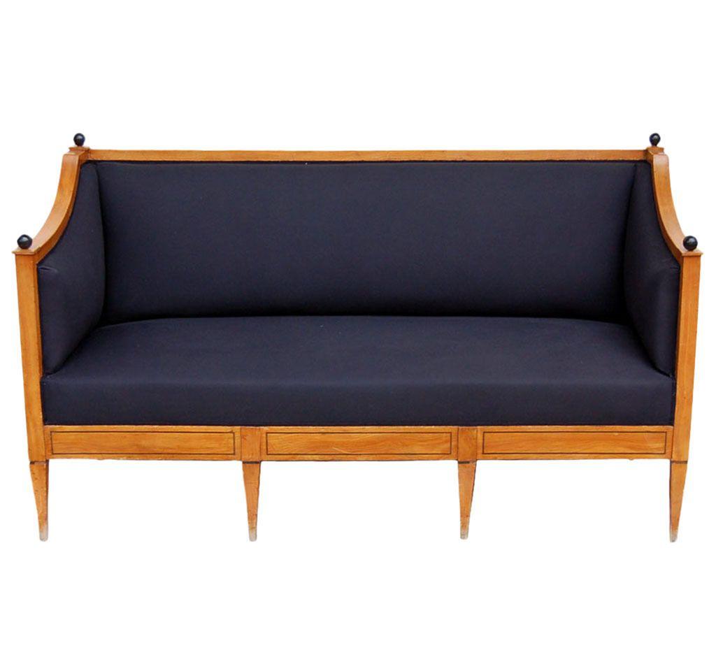 Biedermeier Period Sofa In Cherrywood
