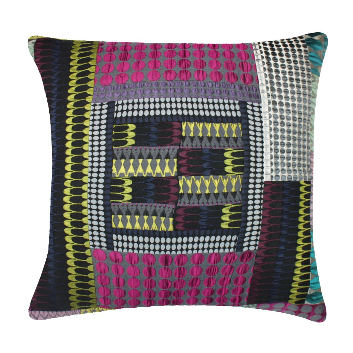 Patchwork cushion @ Margo Selby