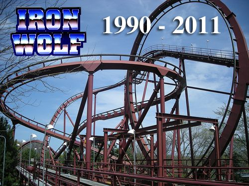 Iron Wolf At Six Flags Great America In Gurnee Illinois Now Replaced This Coaster You Stood Upr Great America Six Flags Great Adventure Amusement Park Rides