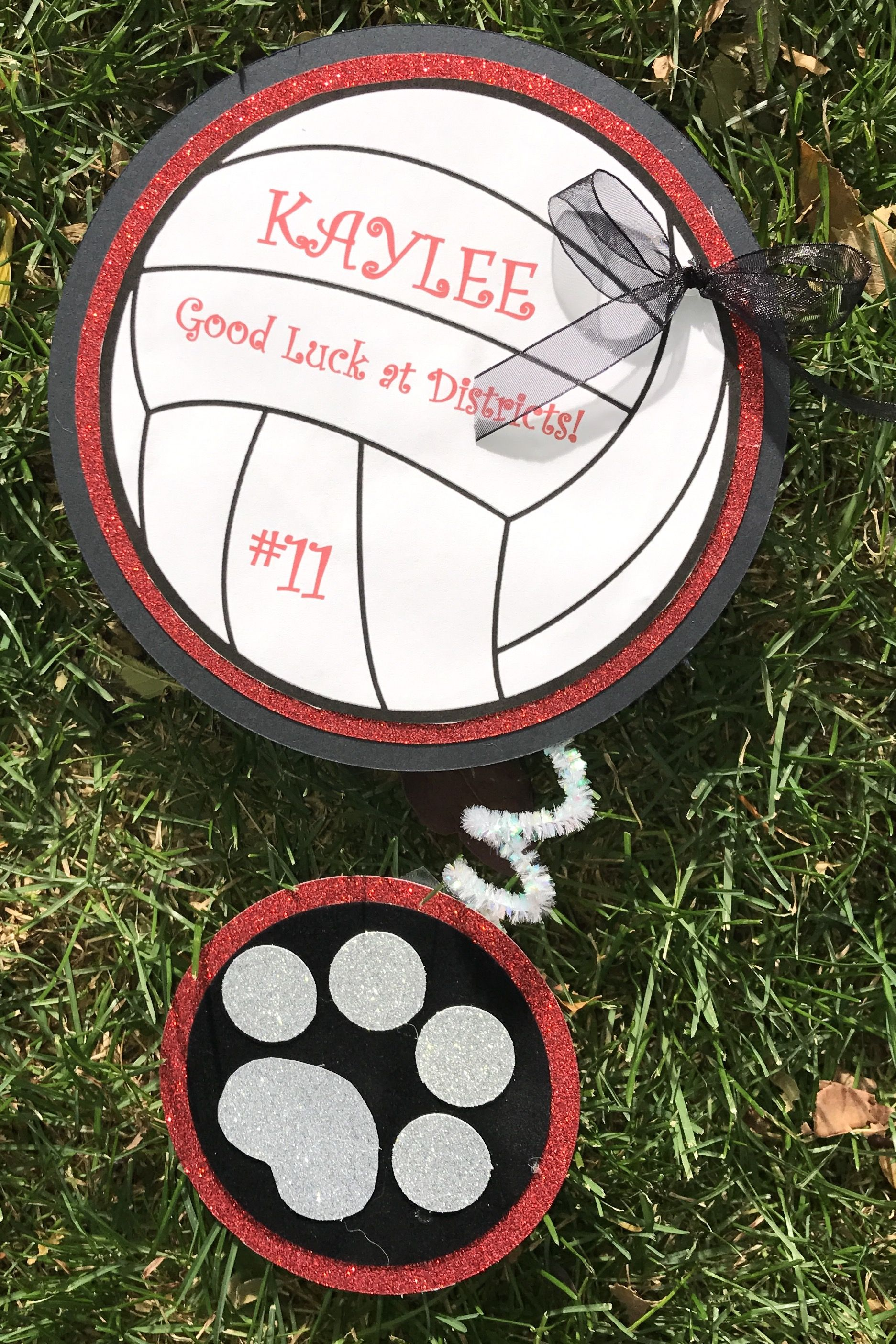Cute Volleyball Locker Sign Wth Panther Paw Volleyball Locker Decorations Sports Locker Decorations Volleyball Crafts