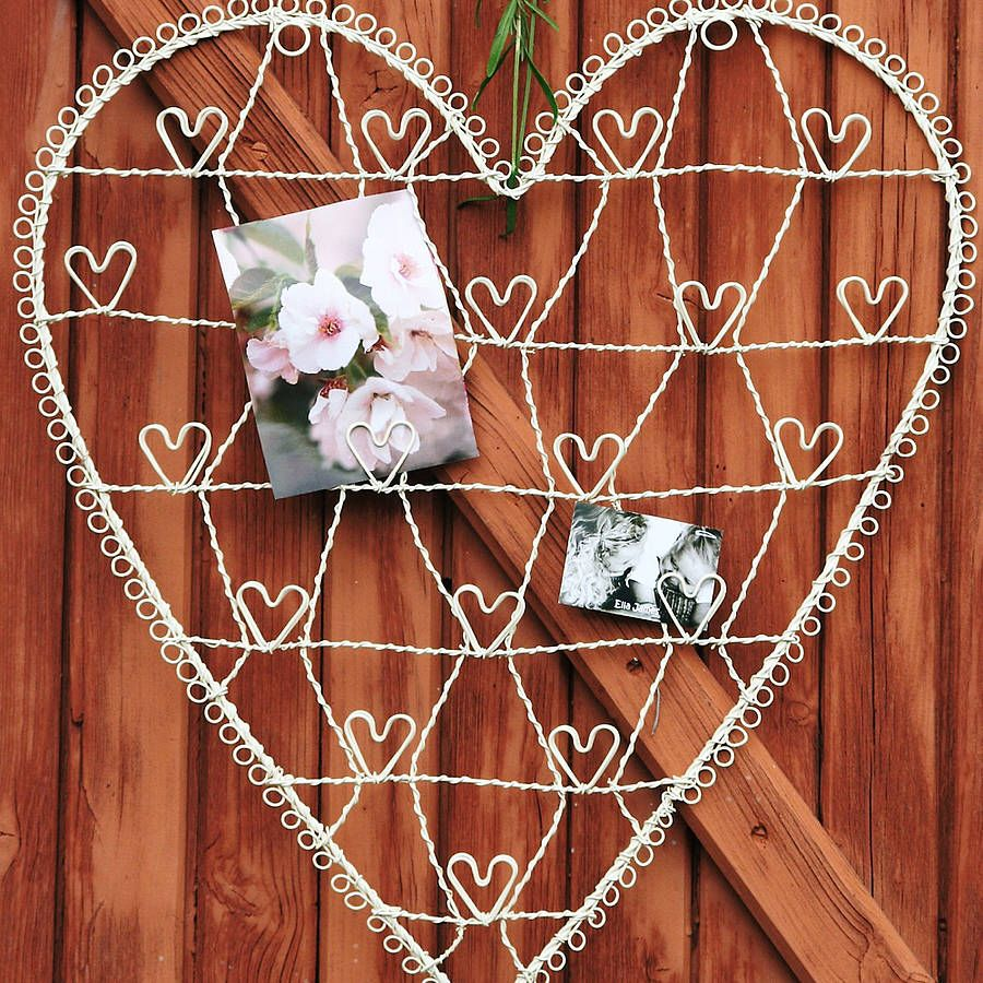 wire heart card and photograph holder by ella james   notonthehighstreet.com