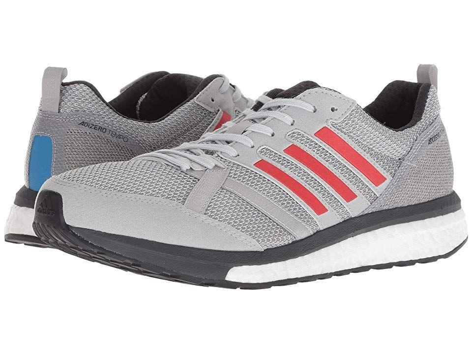 pretty nice 236ea 2c5f1 adidas Running adiZero Tempo 9 (Grey Two Hi-Res Red Carbon)