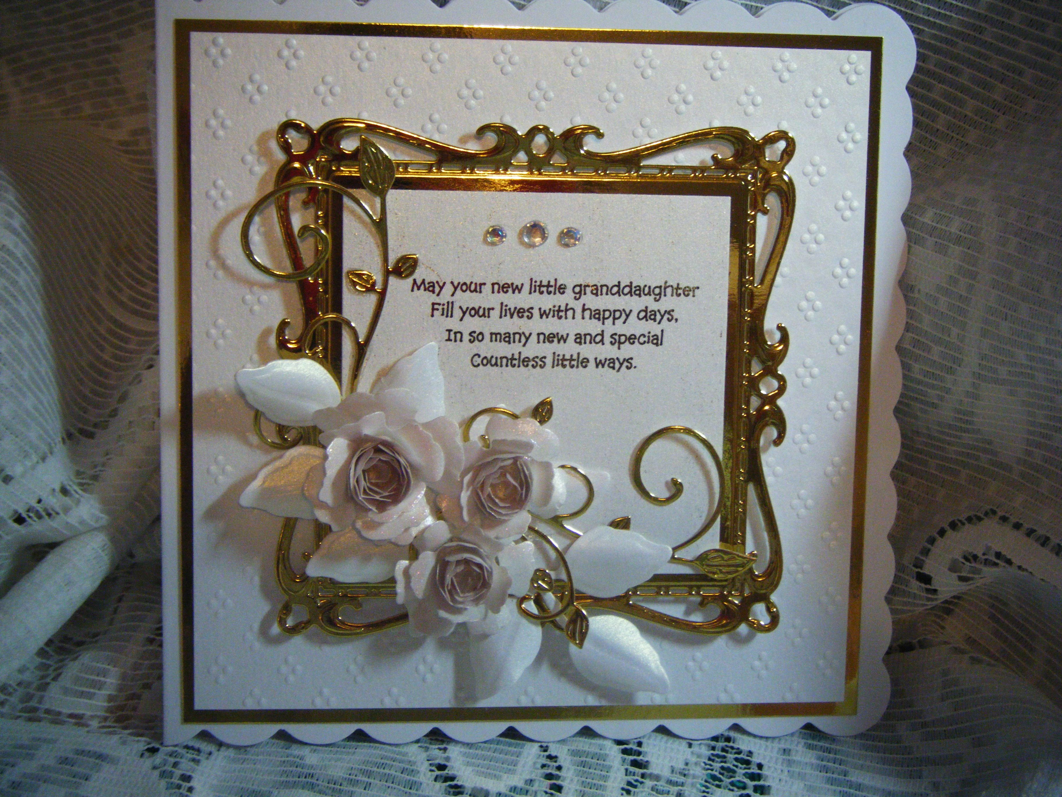 x new grandparents card using spellbinder dies cards for