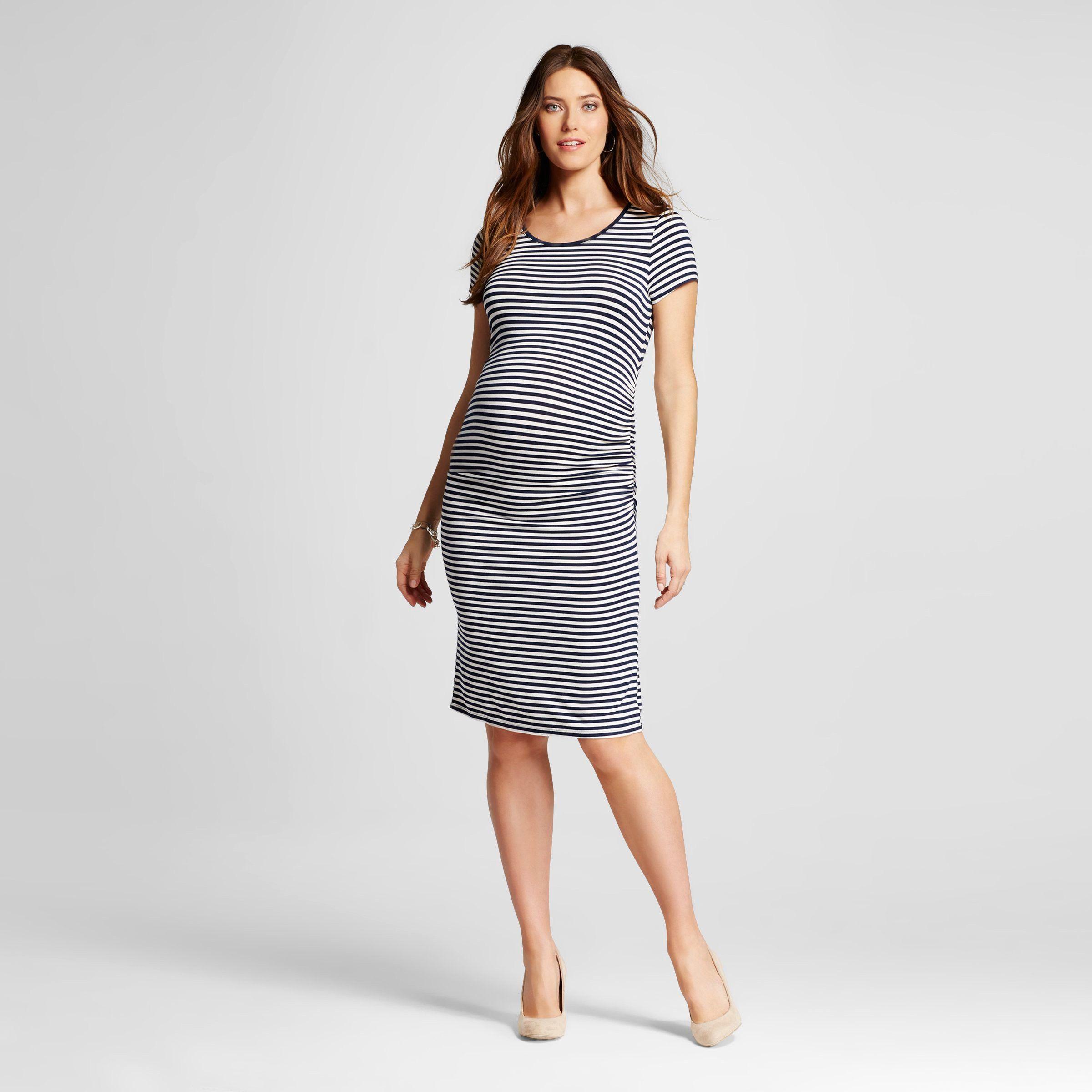 25ba1884370ed Maternity Striped Short Sleeve T-Shirt Dress - Liz Lange® for Target ...
