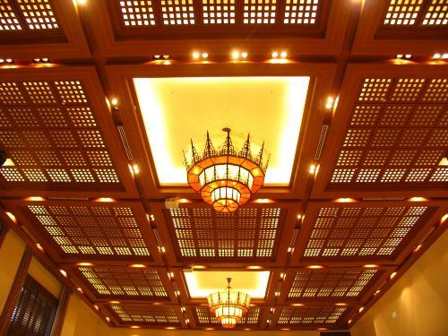 Vintage House Wooden Lattice Panel Ceiling