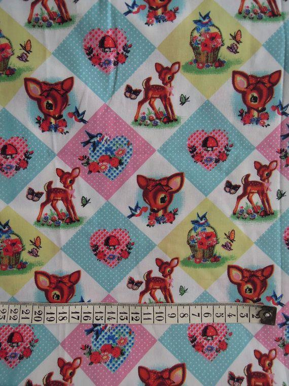 Tissu coton imprimé par HenryetHenriette sur Etsy, €13.20