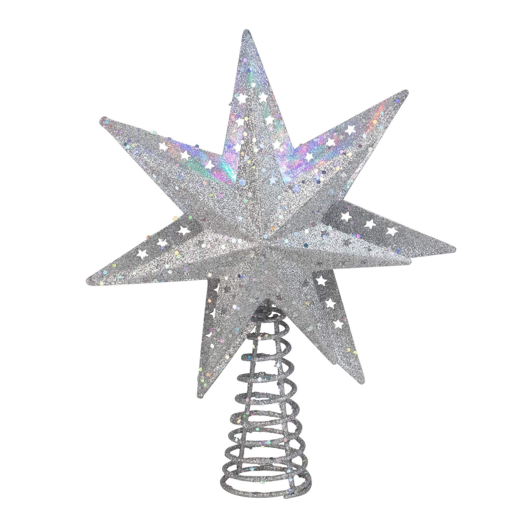 Kurt S Adler 12 Quot Led Lighted 3 D Silver Star With A