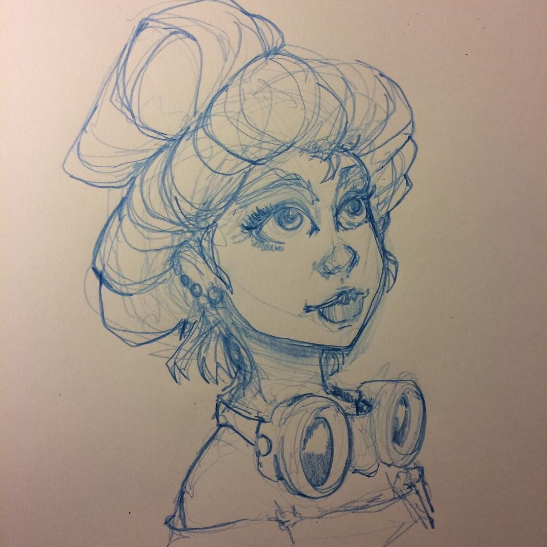 #steampunk #goggles #girl #sketch #illustration #drawing # ...