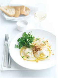 Lobster Ravioli with Horseradish Butter & Lemon Crumbs