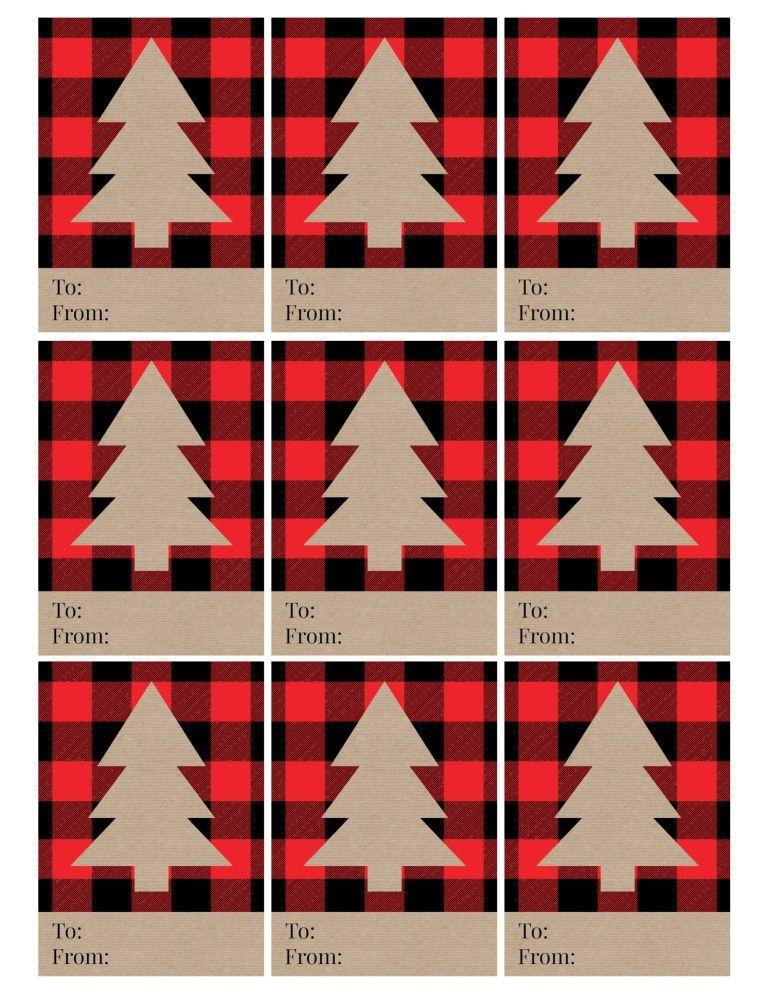 Rustic Plaid Christmas Tags Free Printable | Christmas ...