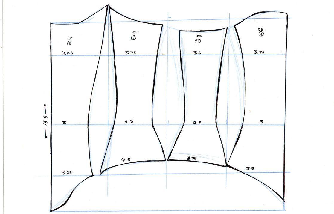 Pattern + Info Deetz | sewing | Corset pattern, Pattern, Sewing patterns