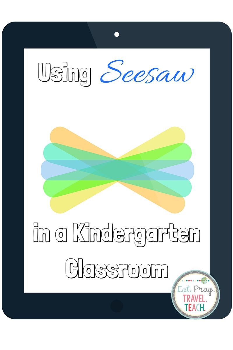 Using Seesaw in a Kindergarten Classroom Kindergarten