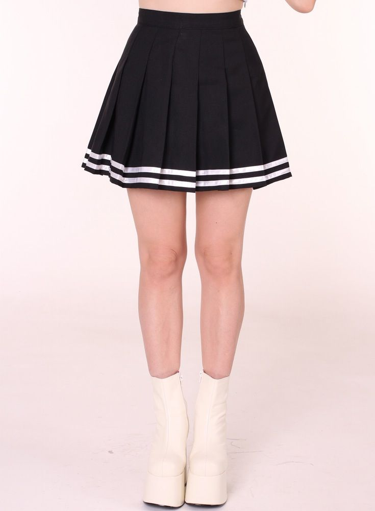 f05bfd12a Image of Ready To Post - Black Cheerleading Skirt