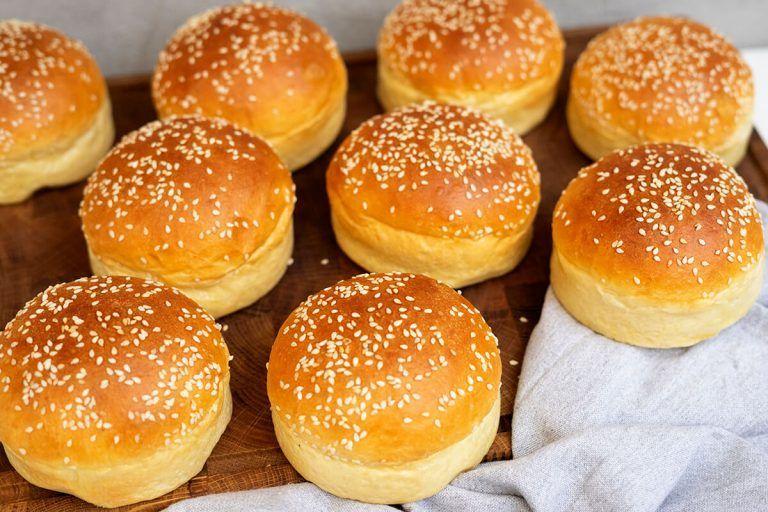 Brioche Burgerboller Opskrift Opskrift Brioche Mad Ideer Og Boller