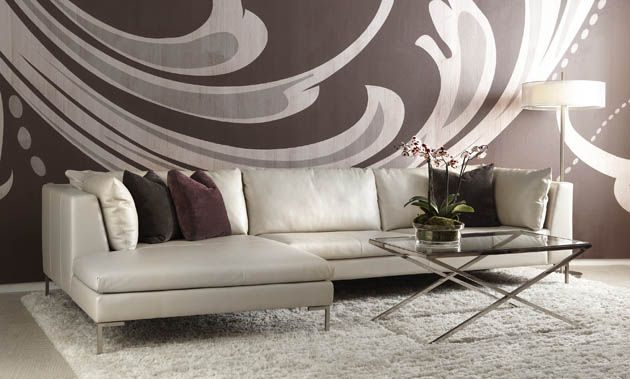 Bova Furniture  Living room leather, Grey and brown living room