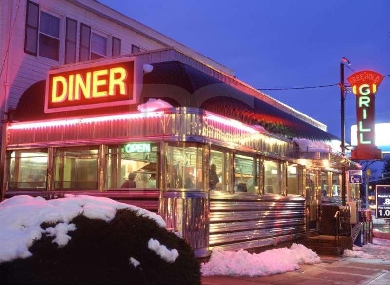 Beautiful, shiny New Jersey Diner