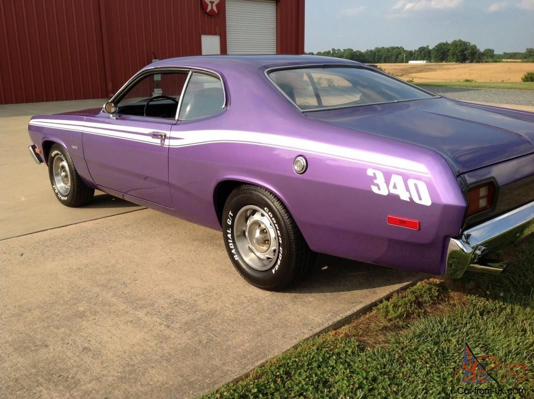 Plum Crazy Mopar Muscle Car   ... Plymouth Duster 340 4speed ...