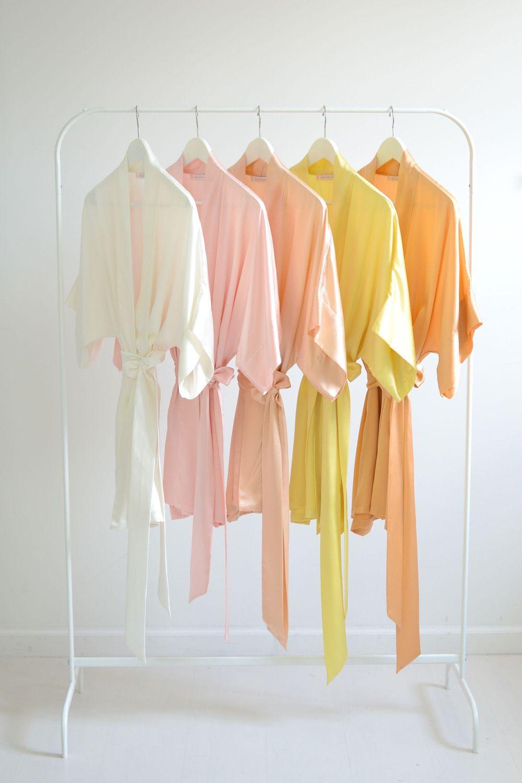 414f7bea5d Image of Samantha bridal silk kimono robe bridesmaids robes in sorbet colors