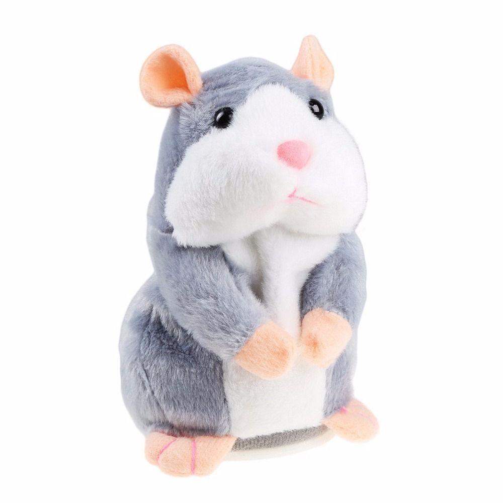 Kids Toys Talking Hamster Mouse Pet Speak Sound Record Toys Plush Stuffed Toys