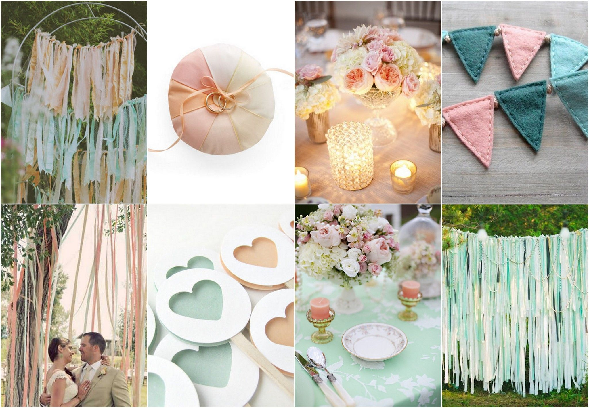 Mint Green And Peach Wedding Theme