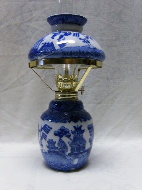 Blue Hurricane Lamp Shade, Blue Hurricane Lamp Shade