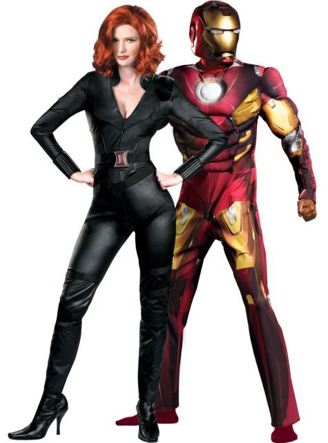 Black Widow And Iron Man Couples Costumes Party City Couples Costumes Couple Halloween Costumes Best Couples Costumes