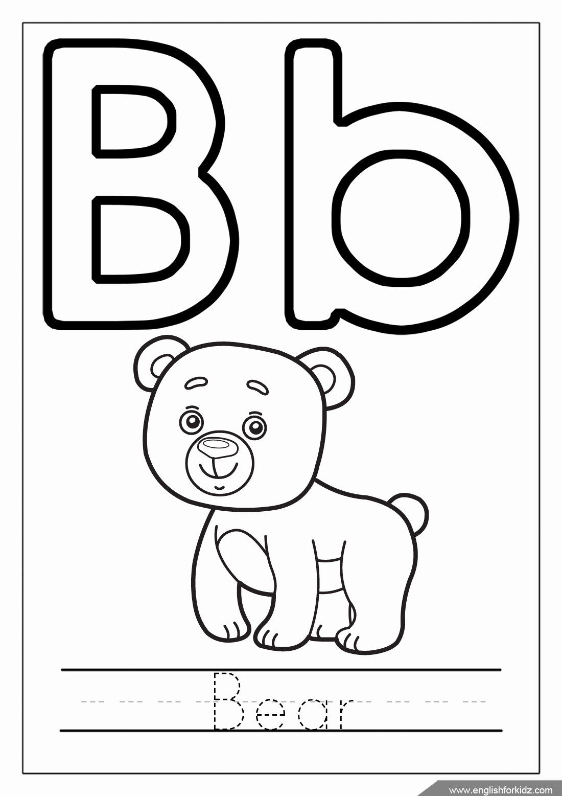 Letter B Coloring Page In