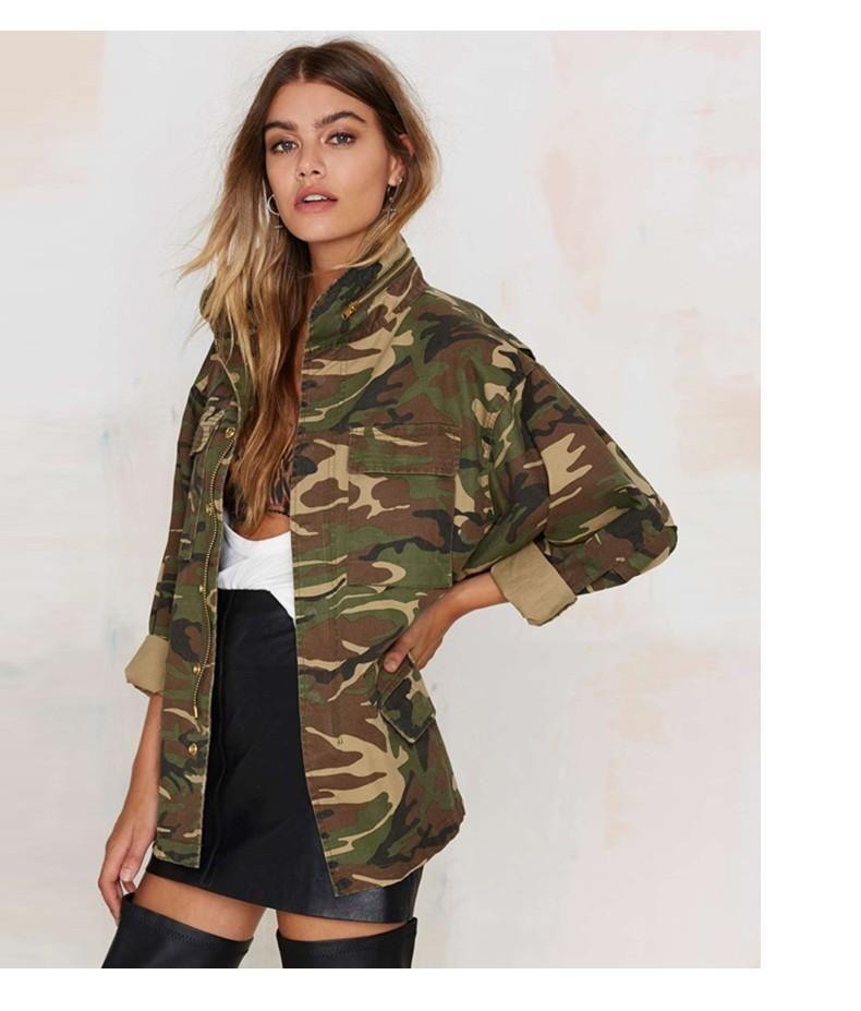 21e293ec035e6 Womens Oversized Camo Jacket | Coats & Jackets | Camouflage jacket ...