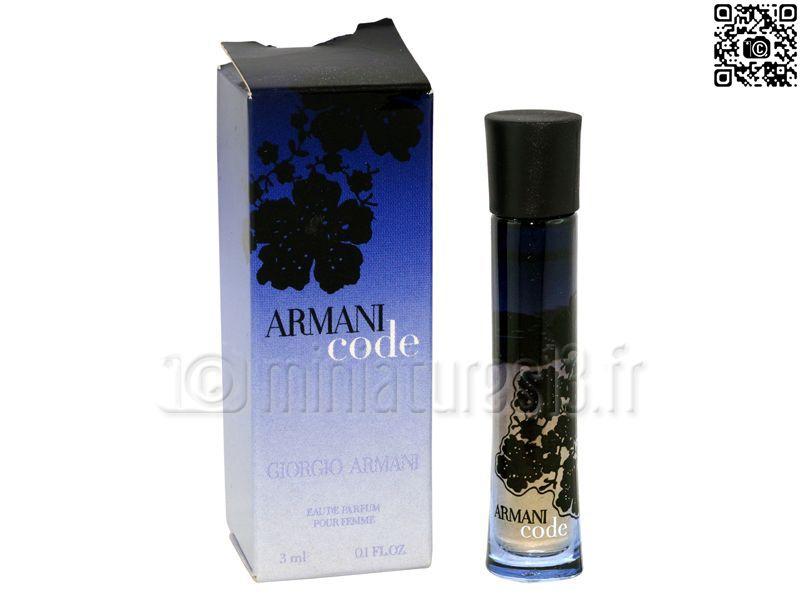 Parfum Femmeeau Code Armani 3mlGiorgio Miniature De n0OP8wk