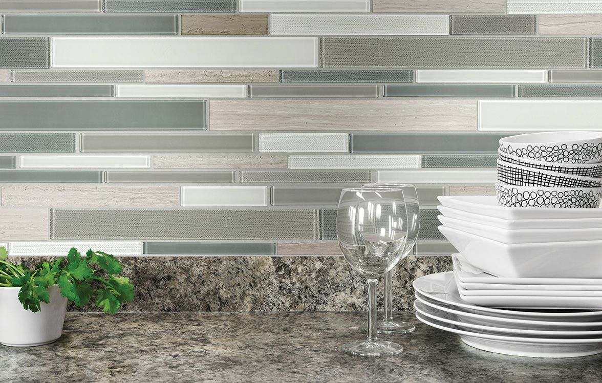 Anatolia Tile Warm Winter Linear Mosaic Stone And Gl Marble Wall Common 12