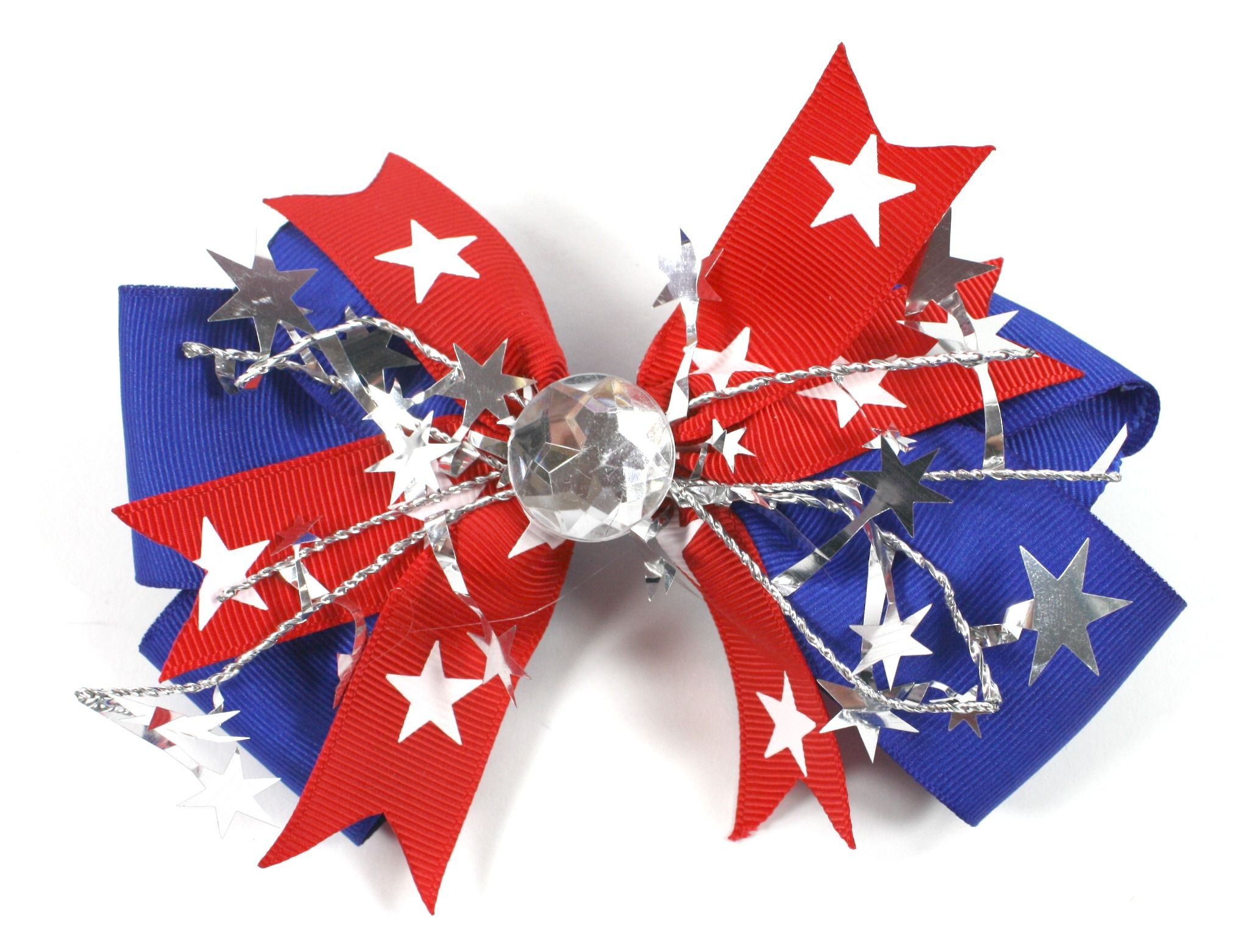 4th of July Patriotic Red, White, and Blue Boutique Hair Bow