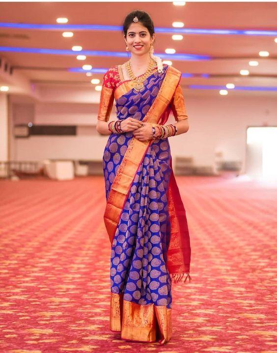 Photo of silk saree blouse designs for wedding