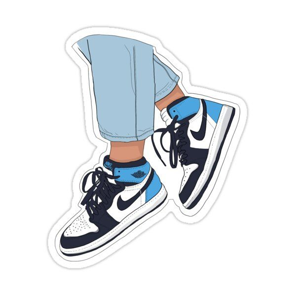 Air Force 1s, Obsidian  Sticker