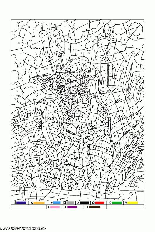 Image result for pintar por numeros | colouring pages | Pinterest ...