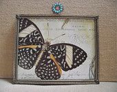 Vintage 8 x 10 Picture Frame with Turquoise and Rhinestone Jewel