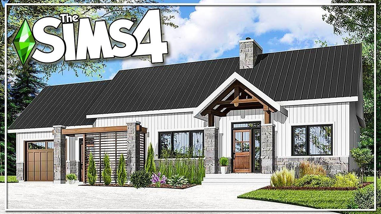 REAL TO SIMS MODERN RANCH HOME The Sims 4 Speed Build