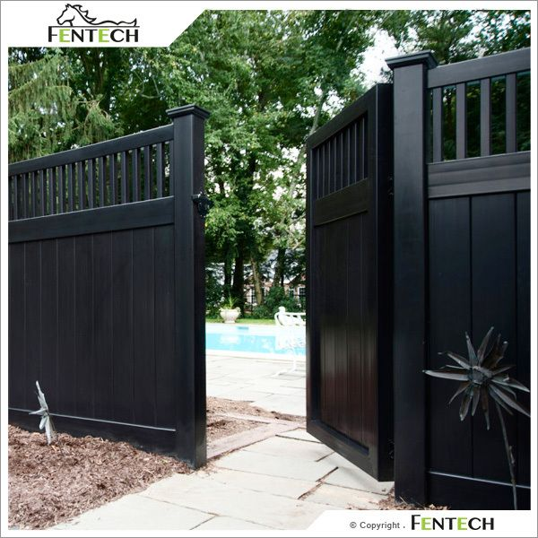 High Quality White Black Vinyl Privacy Fence Factory Photo Detailed About High Privacylandscape Fence Design Wooden Fence Backyard Fences