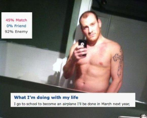 Strange dating site profiles