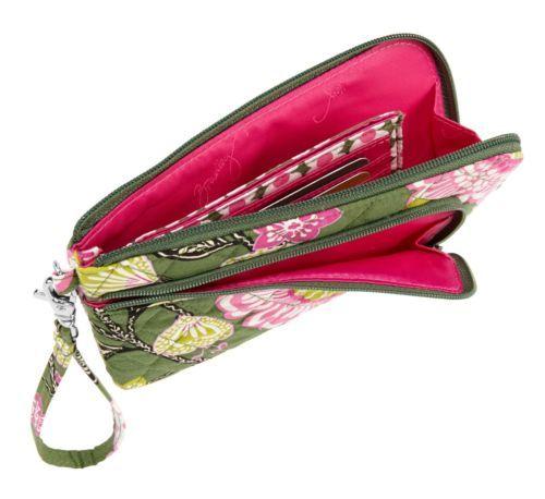 Vera Bradley Zip Zip Wristlet in Olivia Pink