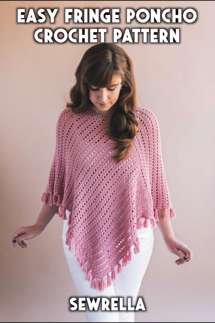 Photo of Easy Crochet Fringe Poncho – free pattern