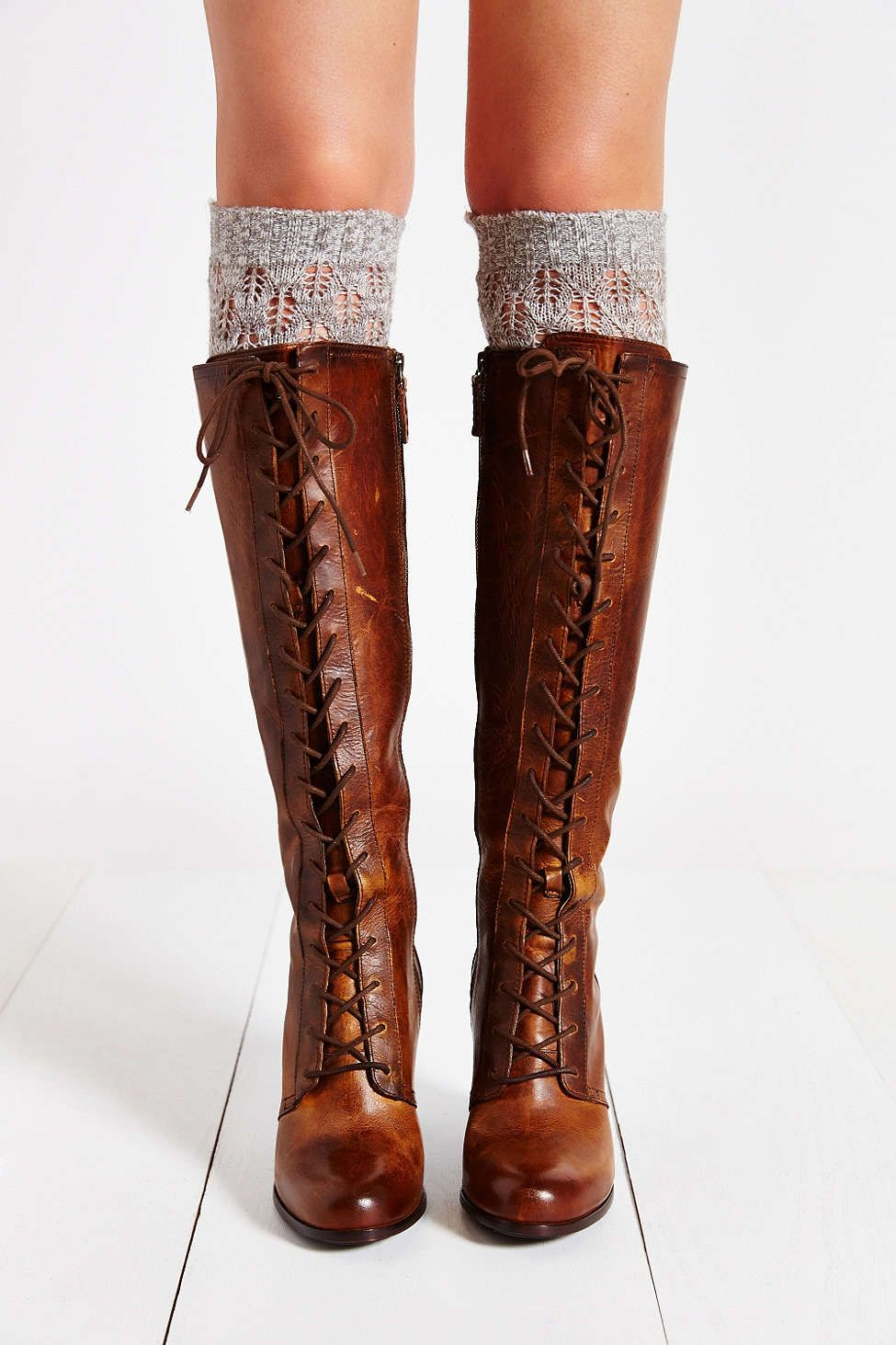 ddfb6b4317333 Frye Parker Lace-Up Tall Boot - Urban Outfitters | I want it in 2019 ...