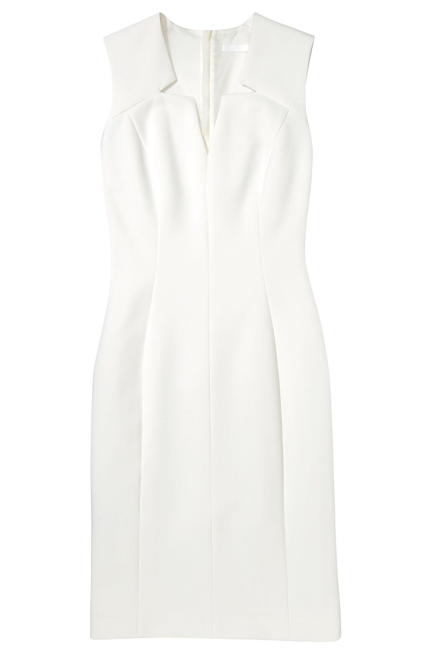 BOSS Etui-jurk 'Dimita' van een materiaalmix Naturel free shipping