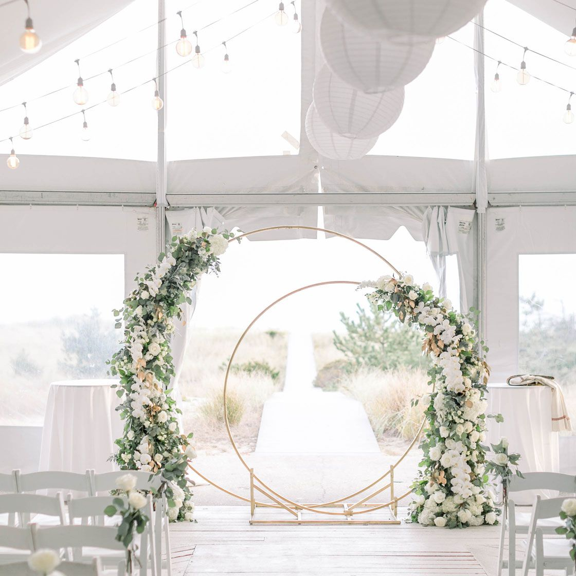 Whether Indoor Or Our Your Wedding Ceremony At Oceanbleu Promises To Be Beautiful Photodh Bklynbloom Bridal Attendant Wedding Wire Beach Ceremony