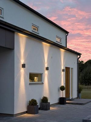 Apliques en pared exterior iluminar exterior pinterest for Iluminacion exterior pared